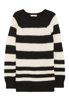 Striped Knit Sweater.