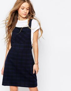Image 1 of Influence Check Pinafore Dress
