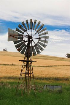 Australian Windmill - cross stitch pattern designed by Tereena Clarke. Country Quilts, Country Farm, Country Life, Country Living, Farm Windmill, Windmill Diy, Vie Simple, Old Windmills, Water Mill