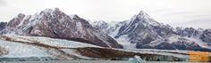 Panorama of Sefstrom Glacier in East Greenland