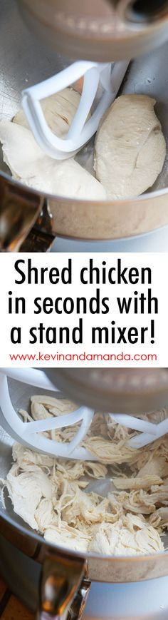 The EASIEST way to shred chicken ever!!