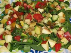 Sweet and Savory Quinoa Spinach Salad