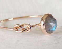Tanzanite Ring Infinity knoop Ring Rose Cut Ring edelsteen