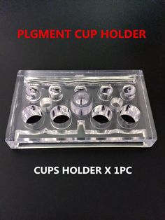 Rectangle Acrylic Pigment Rack Permanent Makeup Pigment Cup Color Pigment Cup Holder