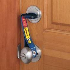 Super Grip Lock Deadbolt strap is a dead end for intruders! Door can't be opened, even with a key. Totally want this cause I'm paranoid