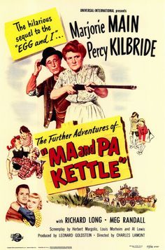 CAST: Marjorie Main, Percy Kilbride, Richard Long, Meg Randall, Esther Dale, Barry Kelley, Patricia Alphin; DIRECTED BY: Charles Lamont; PRODUCER: Leonard Goldstein, Universal Pictures; Features: - 11