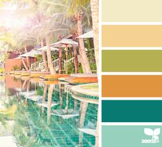 mental vacation via design seeds. perfect kitchen palette if you ask me! Scheme Color, Colour Pallette, Colour Schemes, Color Combos, Beach Color Palettes, Design Seeds, Color Stories, Color Swatches, Color Theory