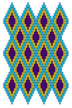 Medieval Arts & Crafts: Brick stitch pattern I love these colors! Broderie Bargello, Bargello Needlepoint, Needlepoint Stitches, Needlework, Plastic Canvas Stitches, Plastic Canvas Crafts, Plastic Canvas Patterns, Bargello Patterns, Peyote Patterns