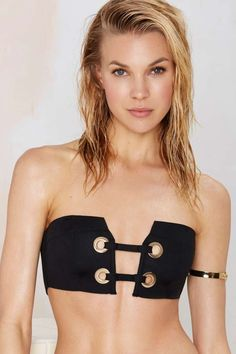 Nasty Gal In Hot Water Scuba Bikini Top - Bustier | Shop Clothes at Nasty Gal!