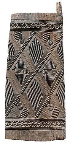 Wooden pattern stamp