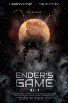 Ender's Game - Released November Definitely need to read this book again Ender's Game Movie, Orson Scott Card, Asa Butterfield, Silly Questions, Series Movies, Tv Series, Harrison Ford, Good Movies, Audio Books