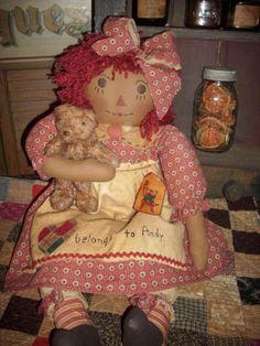 Handmade Raggedy Ann Dolls by April Cummins