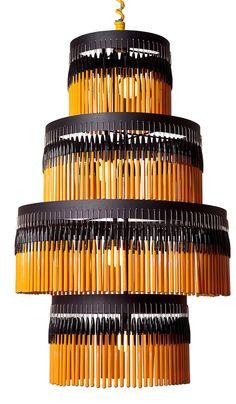Bic pen chandelier.#Repin By:Pinterest++ for iPad#