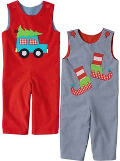 Kelly's Kids Boys reversible long-all Boy Christmas long-all Cute boy clothes
