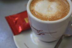 Cafe cortado(a short coffee with milk)
