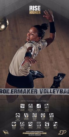 Purdue women's volleyball poster