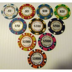 Trademark Poker Classic Eight Stripe Dual Color Poker Chips 11.5gm
