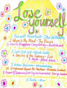 """Playlist: Lose Yourself - Rookie""""alt=""""Friday Playlist""""/></br></br>Songs for when you can't quite see the road ahead of you. Music Jam, Sound Of Music, Music Lyrics, New Music, Music Mood, Mood Songs, Playlists, How To Disappear, Song Playlist"""