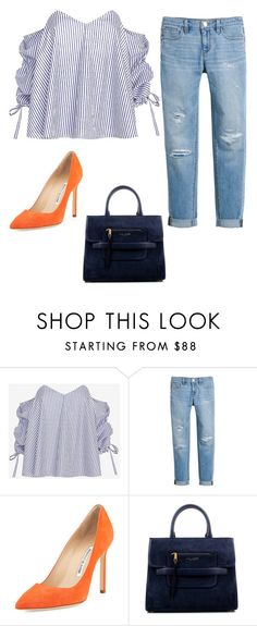 """""""Untitled #537"""" by thequeenofhighheels ❤ liked on Polyvore featuring Caroline Constas, White House Black Market, Manolo Blahnik and Marc Jacobs"""