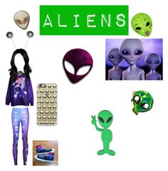 """Aliens"" by barbubianca94 ❤ liked on Polyvore featuring Chicnova Fashion, WithChic, RIPNDIP, Comeco, Converse and Casetify"