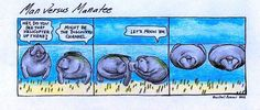 Mooning manatees! :D