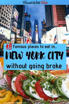 Finding famous places to eat in NYC that won't break the bank shouldn't be the impossible dream. There are plenty of affordable places to eat. New York Travel Guide, Usa Travel Guide, Travel Usa, Travel Tips, Travel Destinations, Beach Travel, Travel Goals, Travel Europe, Budget Travel