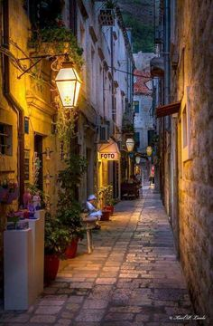 Narrow street, Dubrovnik by Karl P. Laulo-Narrow street, Dubrovnik by Karl P. Laulo Narrow street, Dubrovnik by Karl P. Places To Travel, Places To See, Street Photography, Landscape Photography, Night Photography, Beautiful World, Beautiful Places, Beautiful Moon, Wonderful Places