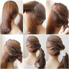 How to DIY Simple Twist Side Ponytail Hairstyle