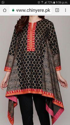 Girls Dresses Sewing, Stylish Dresses For Girls, Stylish Dress Designs, Stylish Dress Book, Simple Pakistani Dresses, Pakistani Dress Design, Sleeves Designs For Dresses, Dress Neck Designs, Frock Fashion