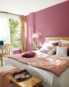 〚 Sunny feminine apartment with a terrace in Spain 〛 ◾ Photos ◾Ideas◾ Design Woman Bedroom, Dream Bedroom, Home Decor Bedroom, Bedroom Ideas, Budget Bedroom, Cozy Bedroom, Bedroom Inspiration, Bedroom Color Schemes, Bedroom Colors
