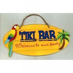 déco en bois tiki bar thème hawaï pour ambiancer votre décoration de salle