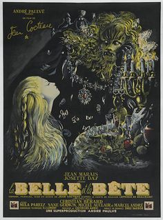 "La Belle et la Bête (Beauty and the Beast 1946) poster (45"" x 63"") sells at auction for $10,000 July 20, 2015"