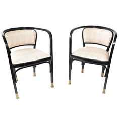 Vienna Secessionist Armchairs Designed by Gustav Siegel | From a unique collection of antique and modern armchairs at https://www.1stdibs.com/furniture/seating/armchairs/