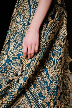 Valentino Spring 2016 Couture Collection Brocade Embroidery.
