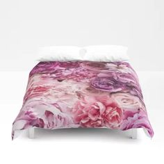Summer Blooms All Shades Of Pink Duvet Cover