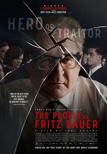 Der Staat gegen Fritz Bauer (The People vs. Fritz Bauer. Germany. Sebastian Blomberg, Burghart Klaußner, Ronald Zehrfeld, Jörg Schüttauf. Directed by Lars Kraume. 2015
