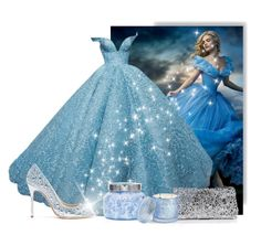 """✪ C is for Cinderella ✪"" by teamfreewillspn ❤ liked on Polyvore featuring Giuseppe Zanotti, Victoria's Secret, Capri Blue and D.L. & Co."