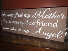 A personal favorite from my Etsy shop https://www.etsy.com/listing/263371226/she-was-first-my-mother-then-she-became