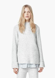 Oversize sweater - Cardigans and sweaters for Women | MANGO | $50
