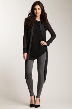 Long Black Shirt For Leggings