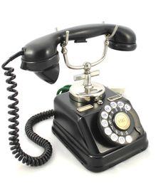 1930's Black metal telephone Danish JYDSK KTAS D30 Telefon Aktieselskap Denmark