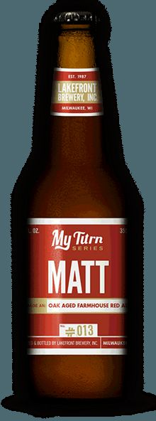 My Turn Matt was created by Lakefront's Sales and Marketing Support guy, Matt. This delicious brew floods the glass with a deep red hue, leaving a nice, off-white head that emanates aromas of pear, grapefruit and malt with mild oak notes. Give it a try at Heidel House Brew Fest 2015: http://www.heidelhouse.com/events/Details/cdf254f6-66dc-4269-8690-a3be010e771f #HHBrewFest15