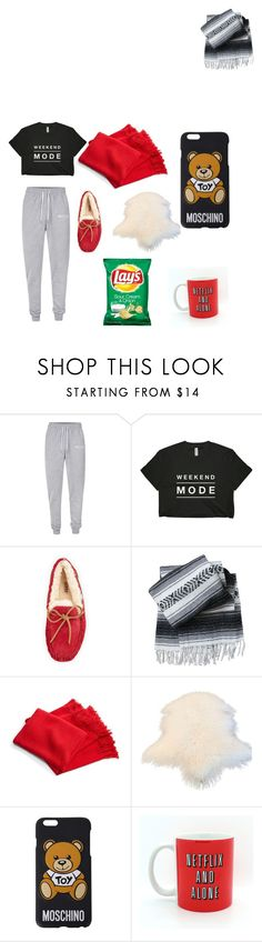 """""""Lazy day weekend ☔️ day weekend"""" by pandahalle ❤ liked on Polyvore featuring Nicce, UGG Australia, Ralph Lauren and Moschino"""