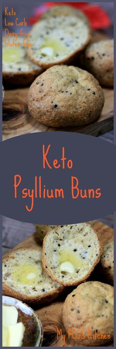 My PCOS Kitchen - Keto Psyllium Buns (Gluten-free) - These low carb buns are guaranteed to impress the whole family! Taste just like wheat buns! #keto #christmas #glutenfree #lowcarb