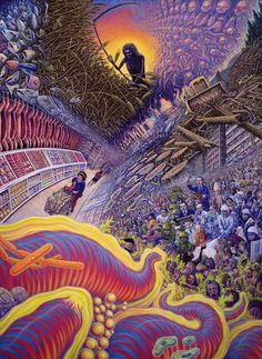 The Visionary Imagery Of Mark Henson Psychedelic Experience, Psychedelic Art, Trippy, Art Visionnaire, Death Art, Acid Art, Psy Art, Mystique, Surreal Art
