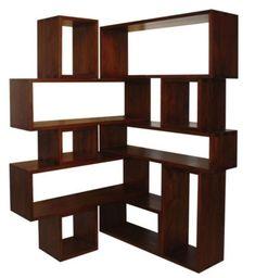 25 Easy DIY Corner Shelves to Beautify Your Room 10 - Corner Shelves - Ideas of Corner Shelves Corner Shelf Ikea, Large Corner Shelf, Corner Shelving Unit, Corner Bookshelves, Floating Bookshelves, Bookshelves In Living Room, Modern Bookshelf, Wood Floating Shelves, Book Shelves