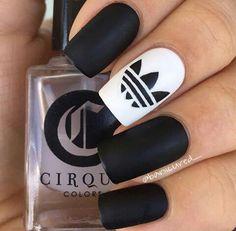 nails adidas and black image