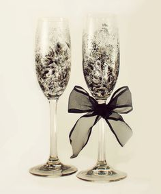 Hey, I found this really awesome Etsy listing at https://www.etsy.com/listing/152594902/hand-painted-champagne-toasting-glasses