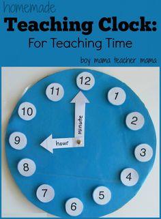 Boy Mama Teacher Mama  Homemade Teaching Clock