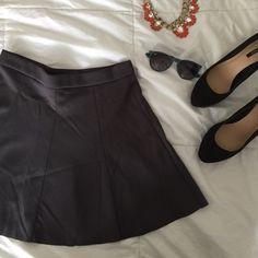 Gray skater skirt ✨forever 21 skirt! Size medium and only worn once. Forever 21 Skirts Circle & Skater